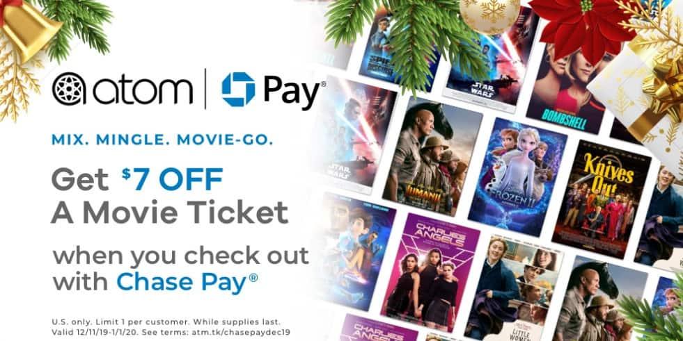 Atom Tickets: Extra  Off ANY Movie Ticket