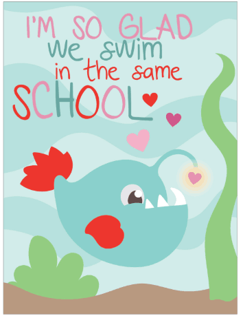 FREE Printable Valentine's Day Cards for School