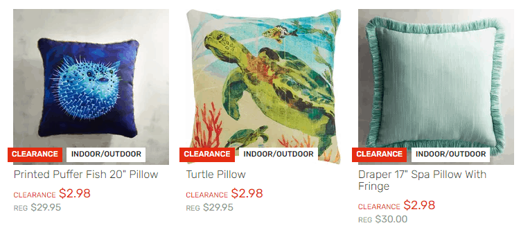 Pier 1 Imports: Sea Life Indoor/Outdoor Printed Pillows Only $2.98 (Was$ $30)