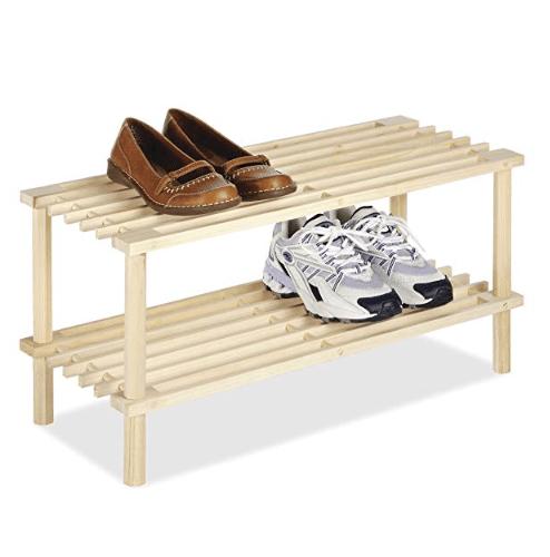 Whitmor 2 Tier Wood Household Shelves Only $5.30