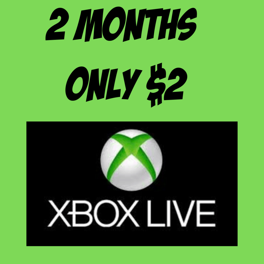Two Month Xbox LIVE Gold Membership ONLY $2.00 - Get Free Xbox Games!