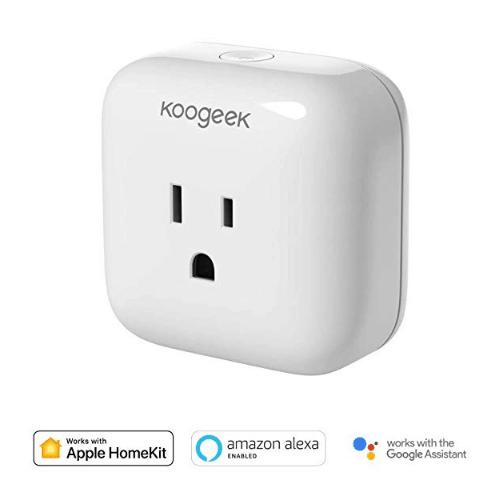Koogeek Smart Plug, WiFi Socket Outlet Compatible w/ Alexa, Apple, and Google Only $19.79
