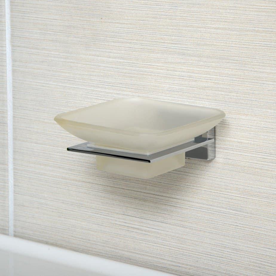 AmazonBasics Euro Soap Tray - Polished Chrome Only $2.18