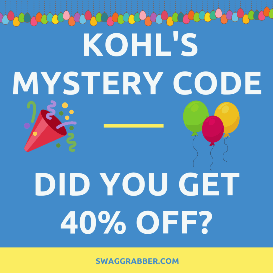 Did You Get a Kohl's 40% off Code?