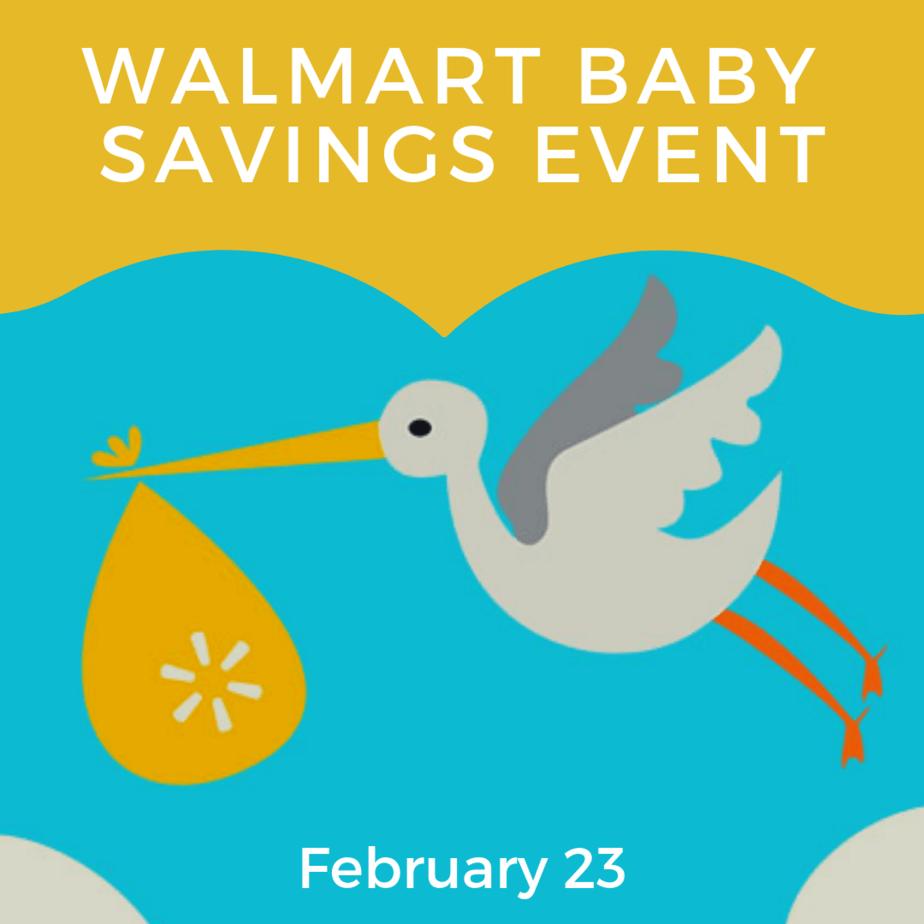 Walmart Baby Savings Event is TODAY!
