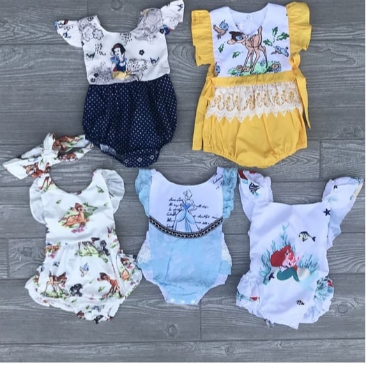 Baby Princess Inspired Rompers Only $12.99 **17 Adorable Styles**
