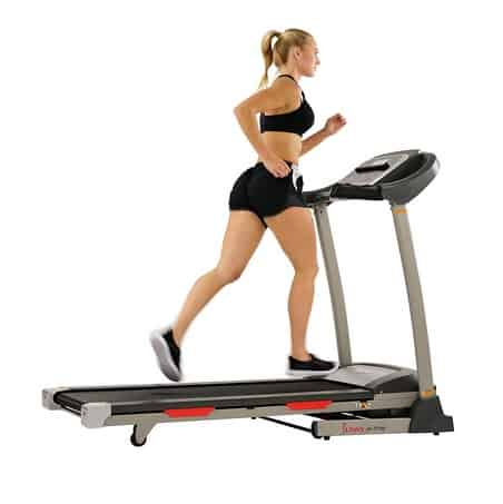 Sunny Health & Fitness Portable Treadmill with  LCD, Smart APP and Shock Absorber $349