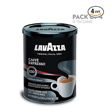 4-Pack Lavazza Caffe Espresso Ground Coffee Blend 8-Ounce Cans Only $12.73