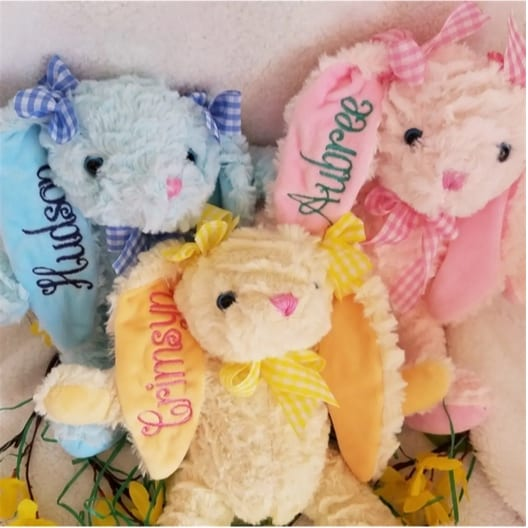 Personalized Easter Plush Bunnies Only $15.99