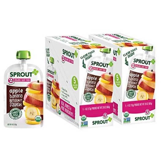 Sprout Organic Stage 2 Baby Food Pouches 10-Pack Only $7.66