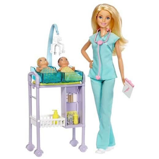 Barbie Careers Baby Doctor Playset Only $10.99