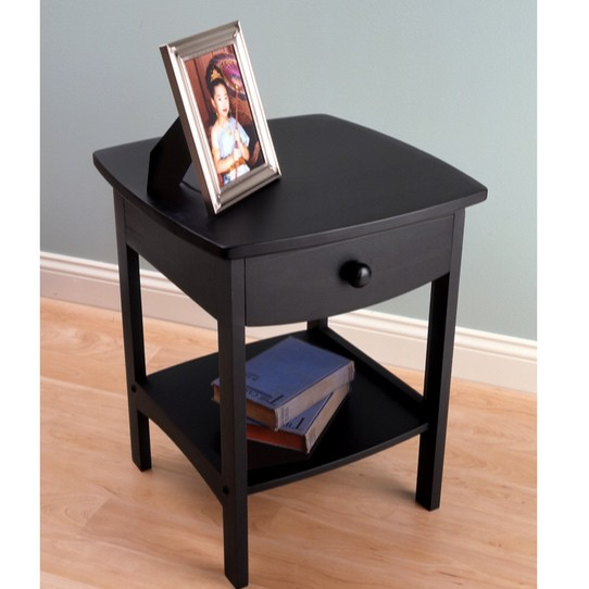 Winsome Curved Nightstand End Table Only $37.28