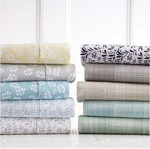 Premium 4 Piece Patterned Bed Sheet Sets Only $23.99
