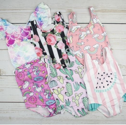 Super Cute Swimsuits for Girls Only $11.99