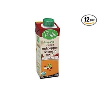 Pacific Foods Organic Roasted Red Pepper and Tomato Soup 12-Pack Only $8.83