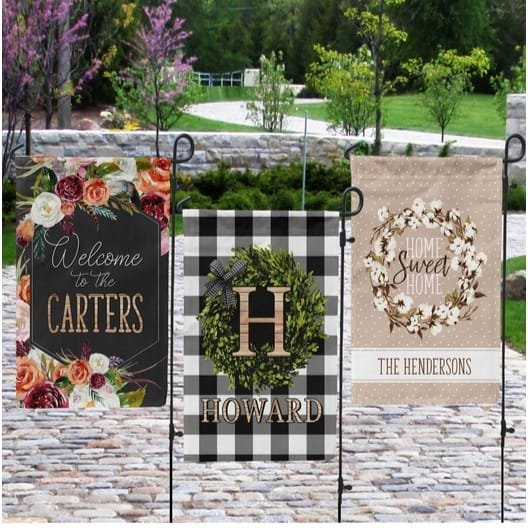 Personalized Garden Flags Only $11.99
