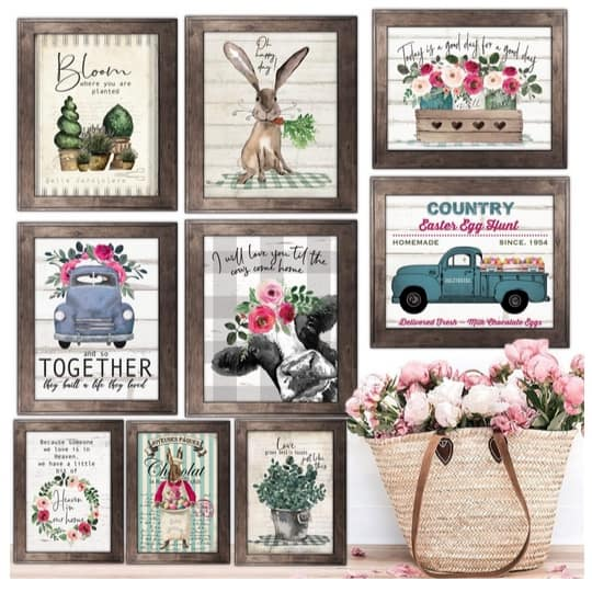 Rustic Spring & Easter Art Prints Only $2.97