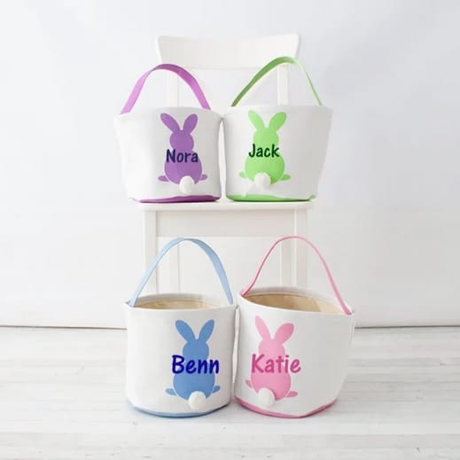 Personalized Canvas Easter Baskets Only $12.99