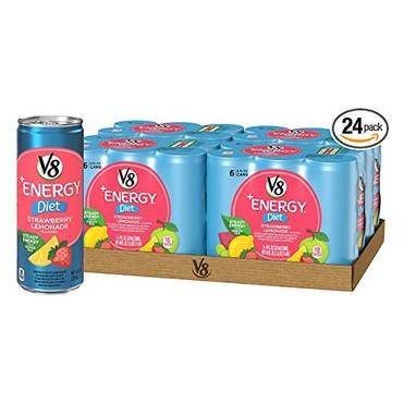 V8 +Energy Diet Strawberry Lemonade 24-Pack $10.59 Shipped **Only 44¢ Each**