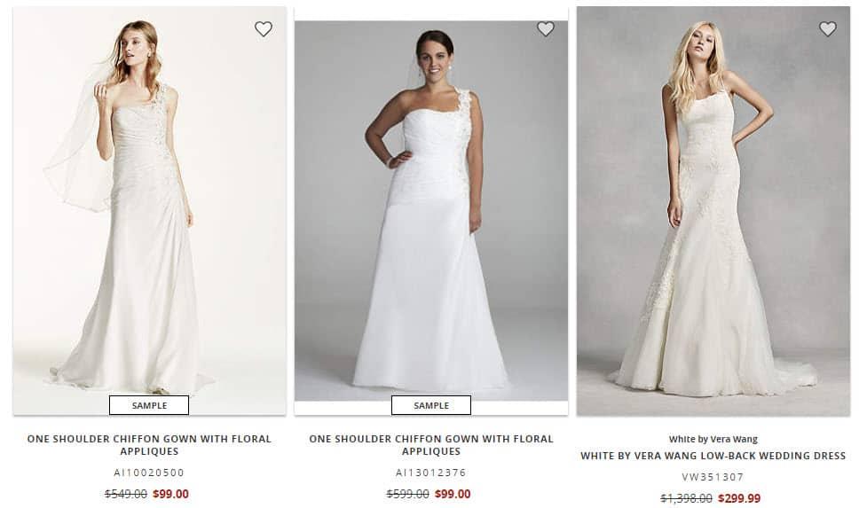 David's Bridal $99 Wedding Dress Sale