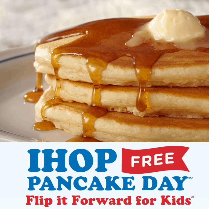 IHOP's FREE Pancake Day: Free Small Stack of Pancakes **Today Only**