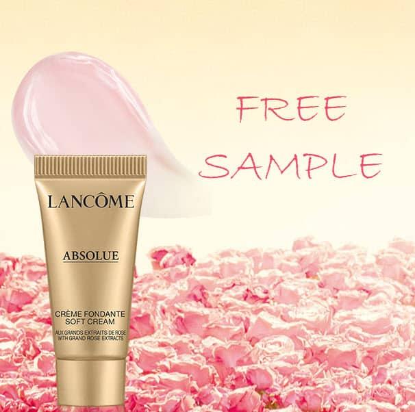 FREE Lancôme Absolue Soft Cream Deluxe Sample