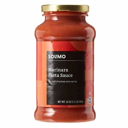 Amazon Brand - 24 oz Solimo Pasta Sauce, Marinara (Pack of 6) Only $9.34