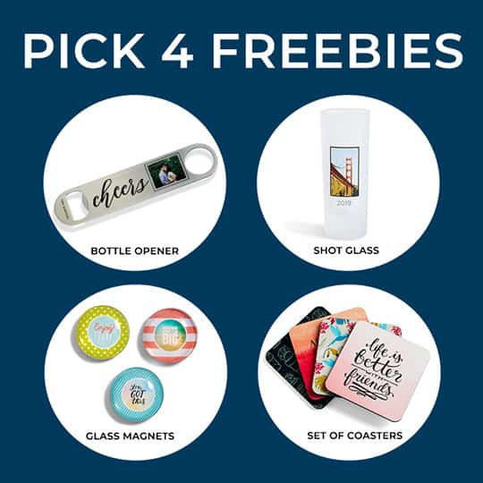 Shutterfly: FREE Bottle Opener, Shot Glass, Set of Glass Magnets and/or a Set of Coasters