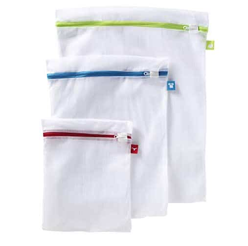 Whitmor Color Coded Zippered Mesh Wash Bags (3 Piece Set) Only $3.59