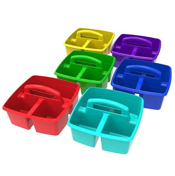 Storex Classroom Caddy, Assorted Colors, Case of 6 $10.19