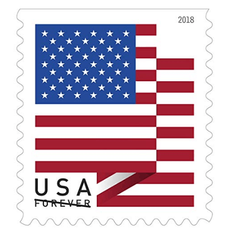 USPS US Flag 2018 Forever Stamps (Book of 60) $25.50 - $0.42 Per Stamp