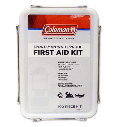 Coleman Sportsman Waterproof First Aid Kit, 100-Piece Only $6.00