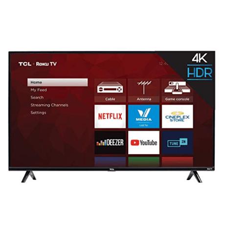 TCL 50 inch 4K Smart LED Roku TV (2019) $269.99