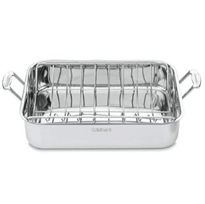 Cuisinart Classic Stainless 16-Inch Rectangular Roaster with Rack $32.99 (Was $110)