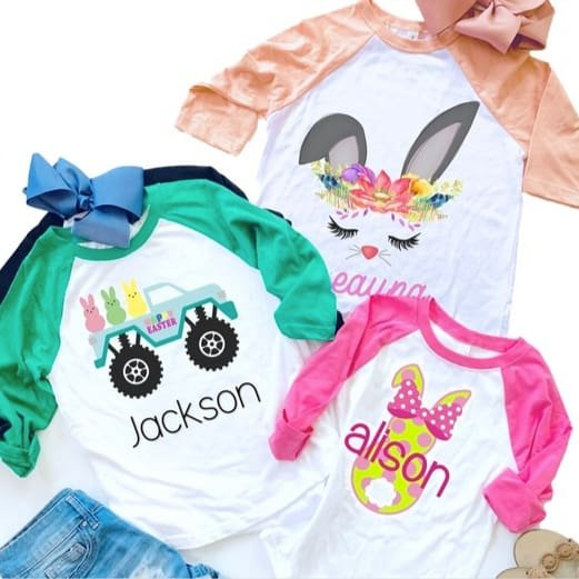 Kids Personalized Easter & Spring Tees Only $12.99