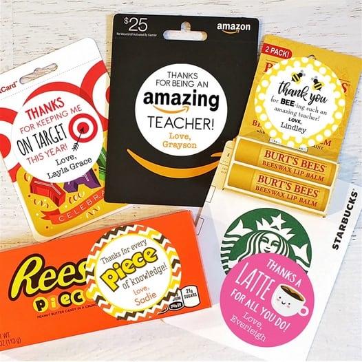 Teacher Appreciation Gift Stickers Only $3.99 **20 Designs**