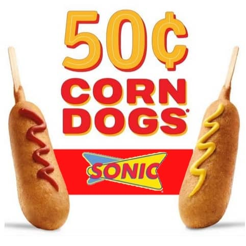 Sonic: 50¢ Corn Dogs **Today Only**