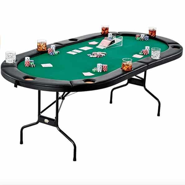 Fat Cat Folding Texas Hold 'em Poker/Casino Game Table $179 (Was $359)