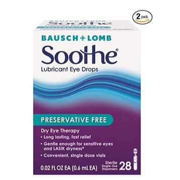 Bausch & Lomb Soothe Lubricant Eye Drops 56-Count Only $11.02