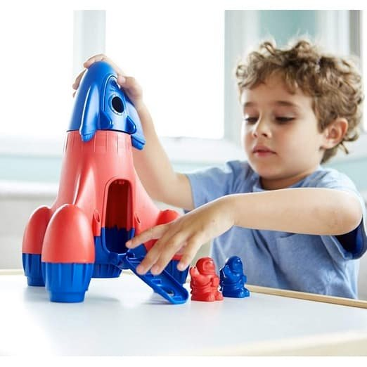 Green Toys Rocket with 2 Astronauts Toy Vehicle Playset Only $14.76
