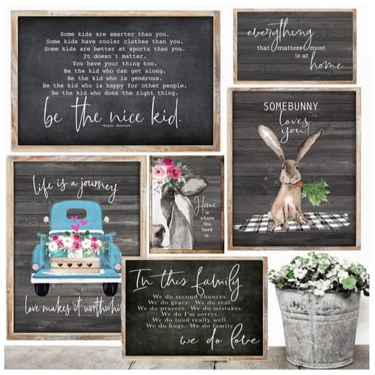 Rustic Spring & Easter Art Prints Only $3.87 **3 Colors & Sizes**