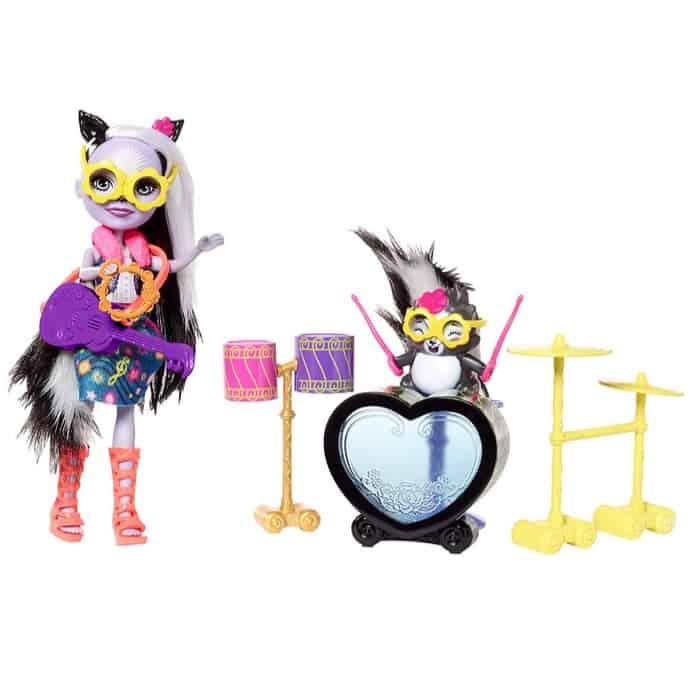 Enchantimals Rockin' Drumset Playset with Sage Skunk Doll & Caper Figure Only $7.91