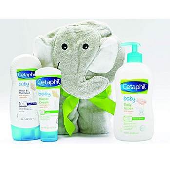 Cetaphil Baby Bath Time Essentials Gift Set with Elephant Hoodie Towel Only $14.39