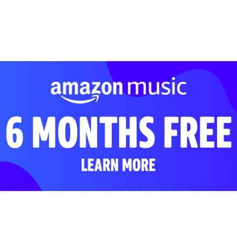 6 Months FREE of Amazon Music Unlimited with Amazon Device Purchase