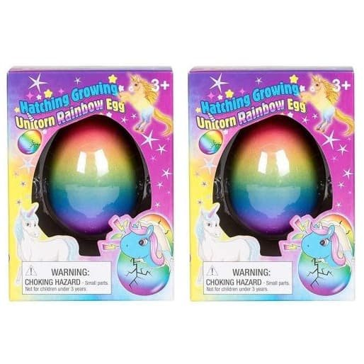 Set of 2 Surprise Growing Unicorn Hatching Rainbow Eggs Only $6.87