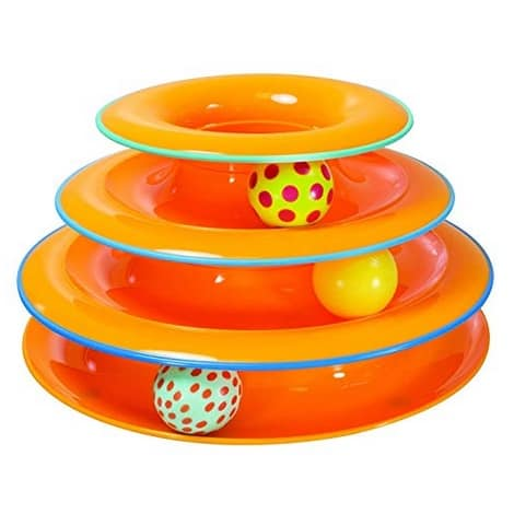 Petstages Tower of Tracks Ball and Track Interactive Toy for Cats Only $7.80