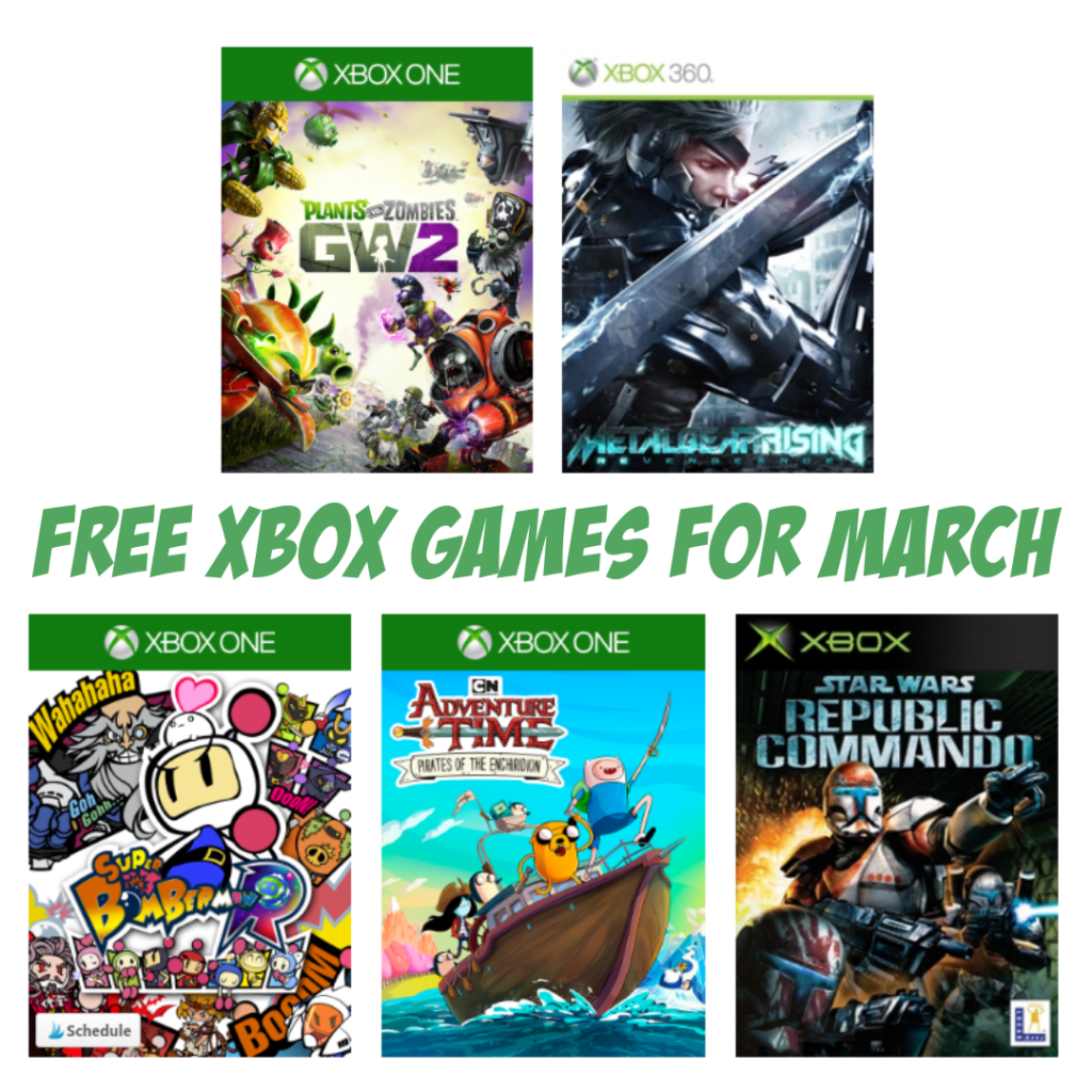 FREE Xbox Games Available for March 2019