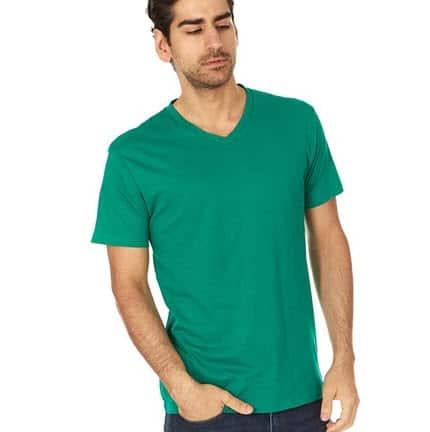 LAT Men's Fine Jersey V-Neck T-Shirt 6-Pack $16.99 (Was $39.99)