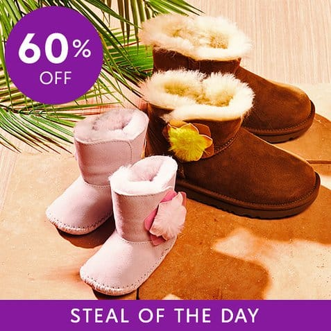 Zulily : UGG Slippers $54.99 & UGG Boots For Kids Only $24.99
