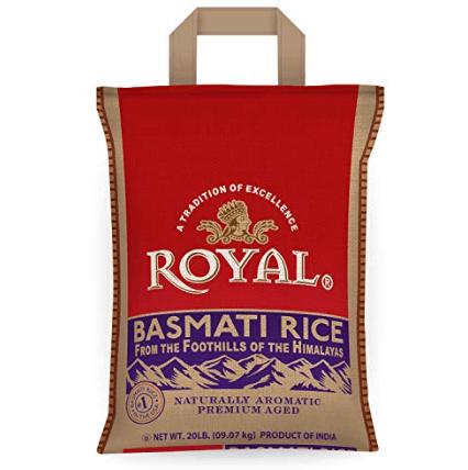 Royal White Basmati Rice, 20 Pound $16.98